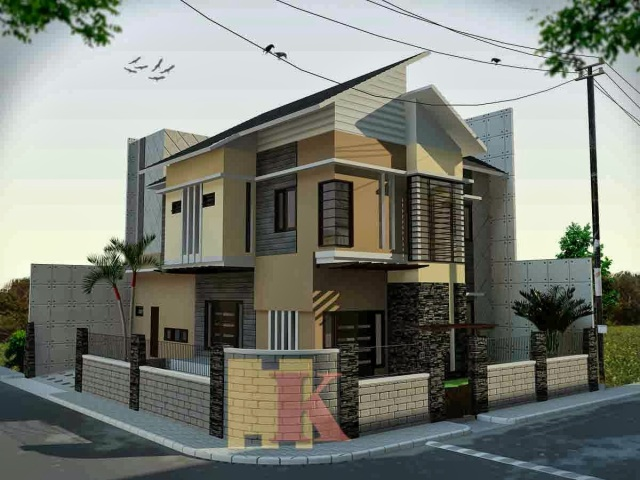 contoh cat rumah apartment
